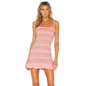 Lovers + Friends Sean Mini Summer Dress in Pink